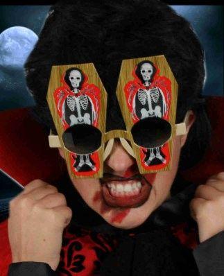 Halloween coffin glasses