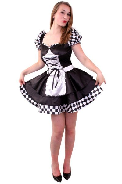 Dark Alice black white checkered dress