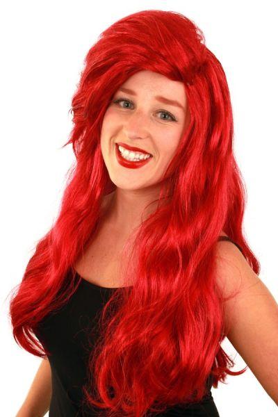Wig luxury red long Ariel