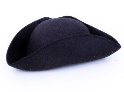 Napoleon hat black felt