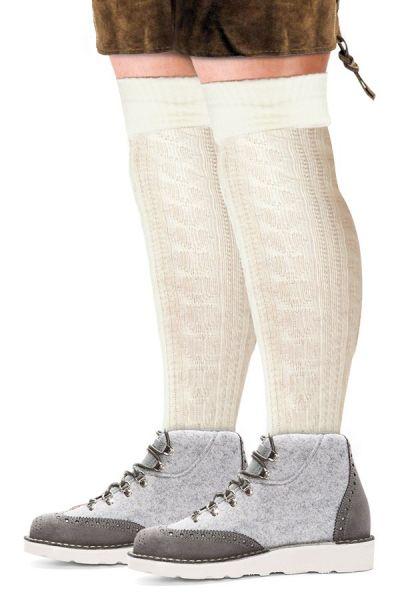 Oktoberfest Tyrolean socks long Ecru