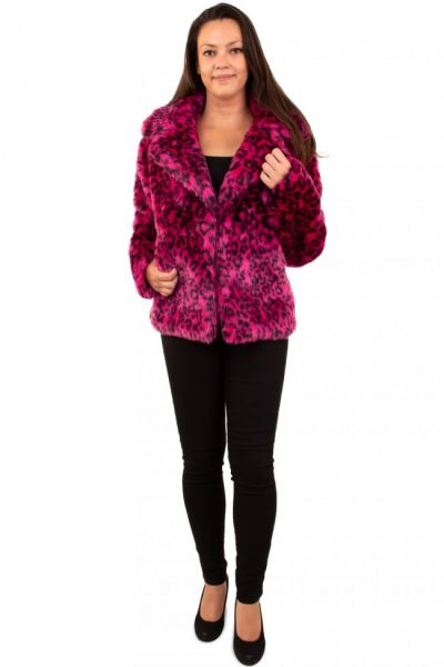 Ladies Fur Coat pink panther