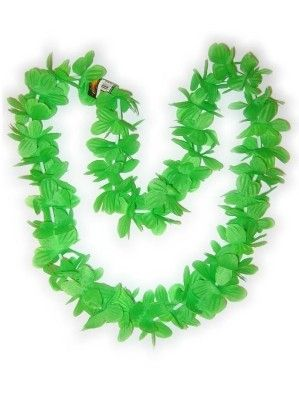 Hawaii necklace green wreaths 12 pieces