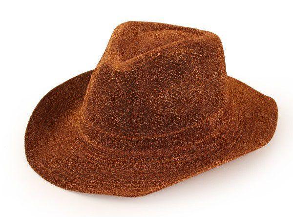 Cowboy hat glitter gold