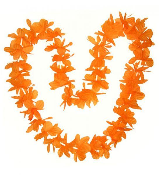 Hawaii necklace orange wreaths 12 pieces