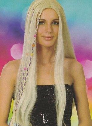 Ladies wig long Flower Power hair