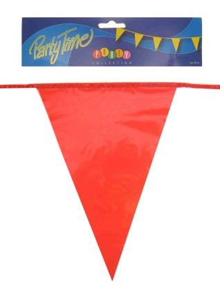 Flag line red 50m festive decoration
