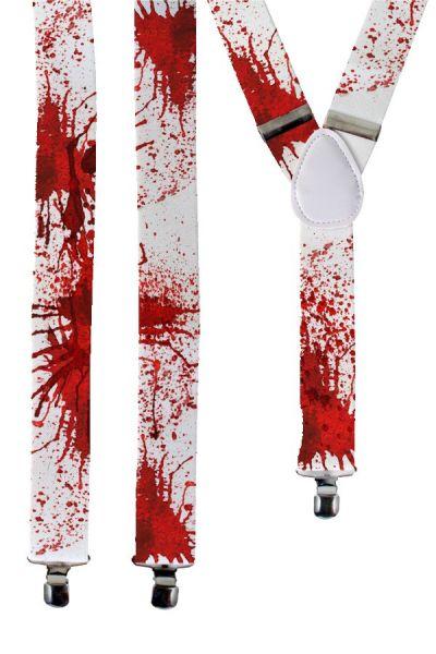 Suspender white with blood Halloween